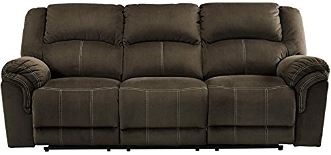 Ashley Furniture Design Leather Recliner Sofa - 3 Seater Tailored Leather Recliner Sofa
