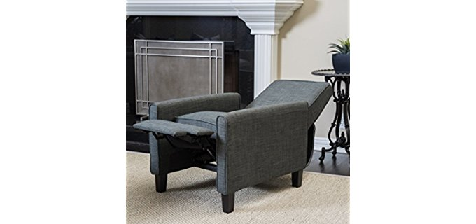 Christopher Knight Home Recliner Club Chair - Fabric Covered Reclining Club Chair