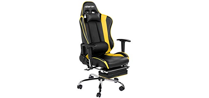 Merax Sporty Reclining Office Chair - High Density lumbar Supportive Office Chair