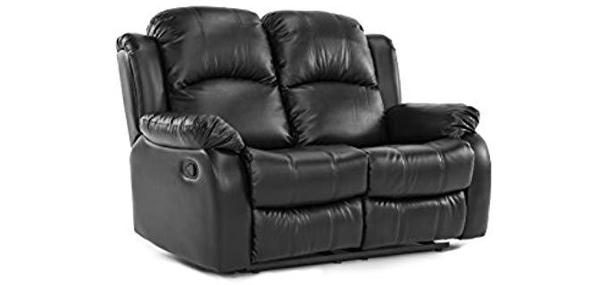Divano Roma Furniture Classic - Loveseat Two Person Recliner