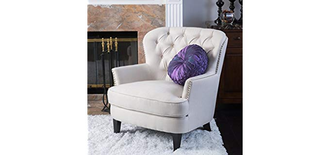 Great Deal Alfred - Wingback Chair with Tufted Button Detail