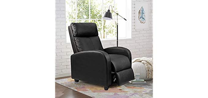 Homall Single - Leather Mid-Century Modern Reclining Chair