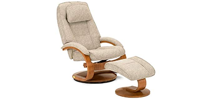 Mac Motion Teatro - Recliner and Ottoman in Tan