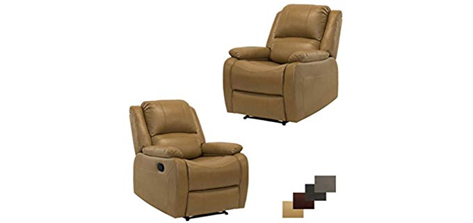 RecPro Charles Collection - Two Set Wall Hugger Recliner