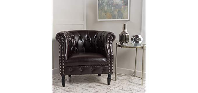 GDF Sultan - Tufted Leather Club Chair
