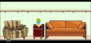 Tan recliner feature