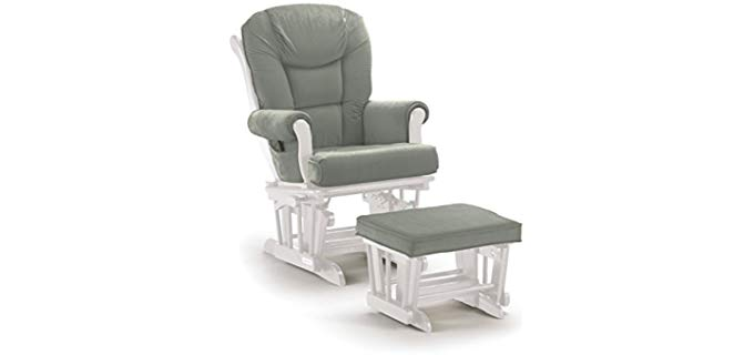 Shermag Two In One Glider Chair - Fancy Rocker Glider Combo Arm Chair
