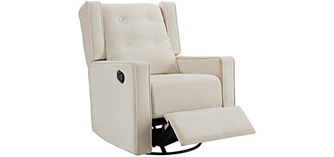 Naomi Home Odelia - Swivel Rocking Microfiber Recliner