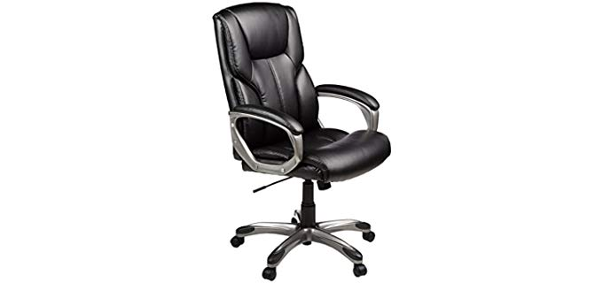 AmazonBasics High Back - Executive Reclining Chair with Wheels