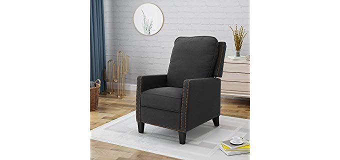 Armstrong Traditional - Mid-Century Push Back Recliner with a Modern Touch