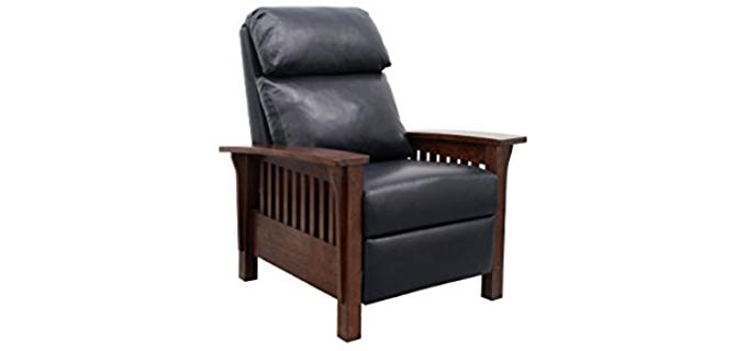 Barcalounger Mission - Manual Reclining Chair with Wood Armrests