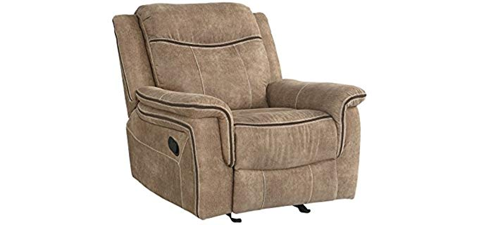 FurnitureMaxx Benton Dessert - Plush Manual Reclining Sofa