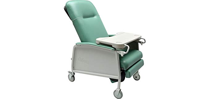 Drive Medical Geri Chair - Three Position Wheeled Recliner for Medical Use