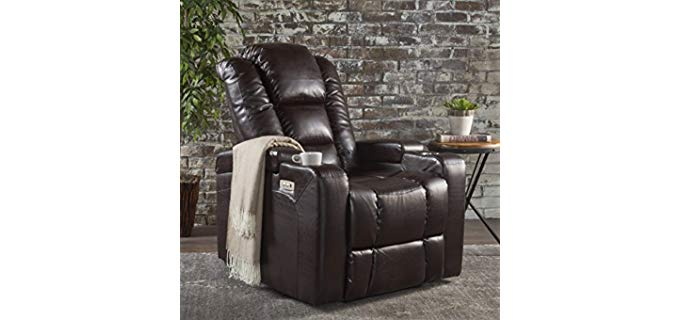 Great Deal Furniture Everette - Power Recliner with Cup Holder
