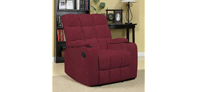 Handy Living proLounger - Storage Arm Cup Holder Recliner