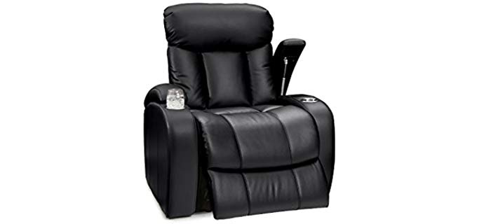 Seatcraft Sausalito - Manual Armrest Storage Recliner