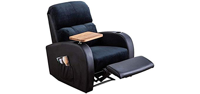Soges Home Luxurious - Reclining Sofa with Armrest Cupholder and Tray