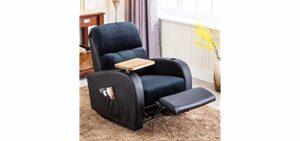 armrest storage recliner