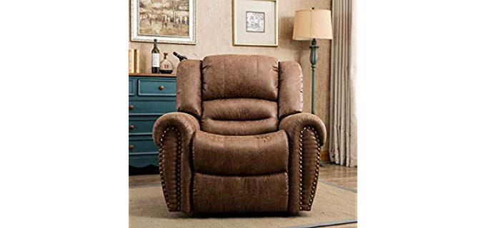 Canmov Traditional - Breathable Bonded Leather Recliner Chair