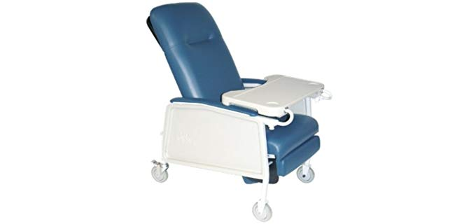 Drive Medical Recliner - Medical Reclining Chair with Laptop Table