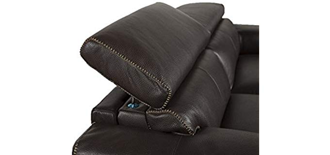 Jamie Living Demarco Leather Reclining Loveseat 5 of 6