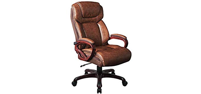 LCH Big and Tall - Wood Frame reclining Office Chair