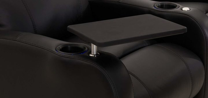 Laptop table recliner feature