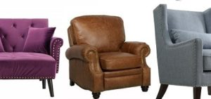 Nailhead recliner feature