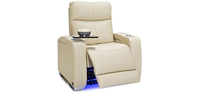 Seatcraft Solstice - Leather Power recliner with Adjustable Head Rest