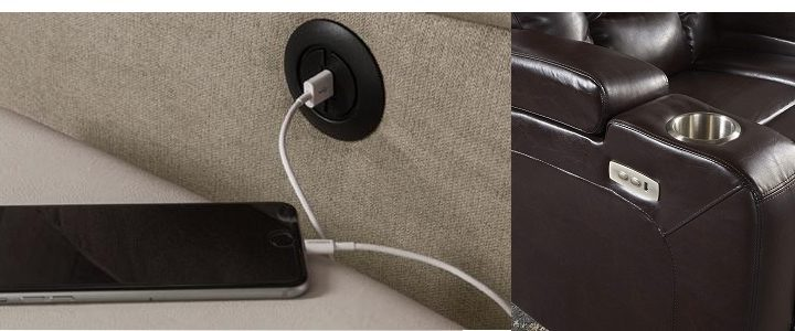 USB Port recliner Feature