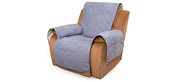 Marksign Waterproof - Pet Recliner Cover with Pockets