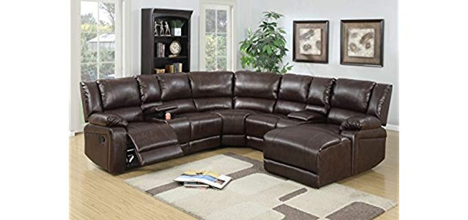 Advanced Furniture Large - Sectional Recliner Sofa Set