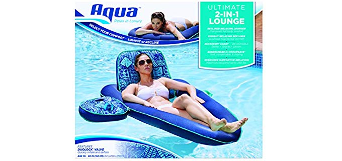 Aqua Campagnia - Covertable Pool Lounger with Caddy