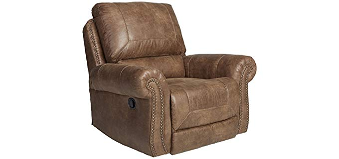 Signature Design Stately Designer Rocker - 'Tallow Earth' Rocker Recliner Chair