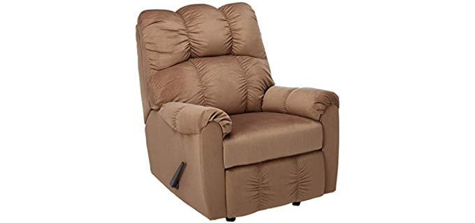 Ashleigh Furniture Signature Design - Manual Recliner with High and Wide Back