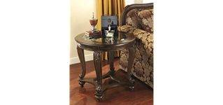 Ashley Furniture Signature Design - Norcastle End Table - Traditional Vintage Style - Round - Dark Brown 6 of 6