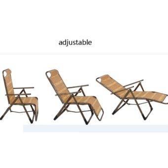 Bamboo outdoor Recline Chair