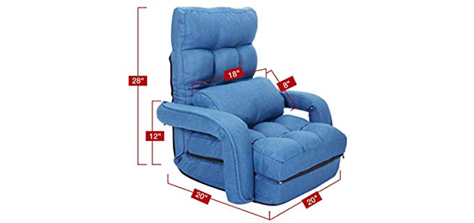 Allblessings Blue - Floor Reclining Chair