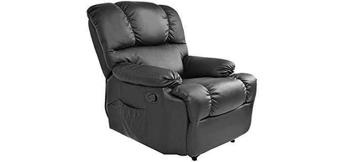 Giantex Massage - Reclining Sofa with Durable Construction