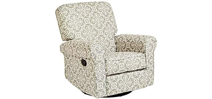 JC Home Menet - Decorative Patterned Swivel Rocker Recliner