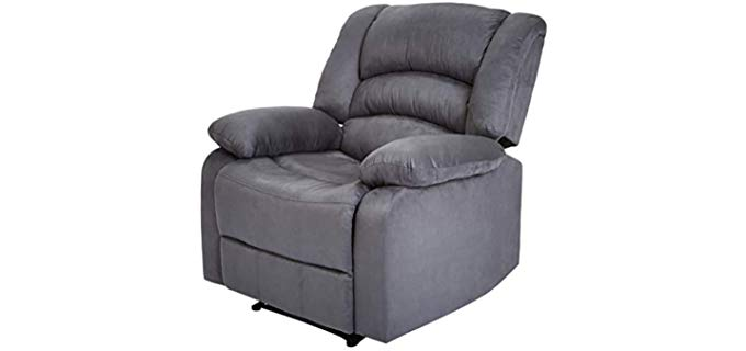JC Home Liano - Microfiber Fabric Recliner