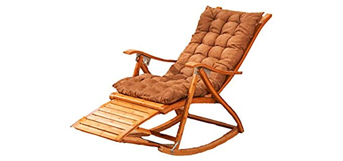 L&J Lounger - Bamboo Rocking and Recline Chair
