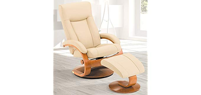 Mac Motion Oslo - Leather and Wood Recliner