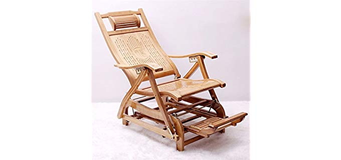 Rocking Chairs MEIDUO - Bamboo Rocker Recliner