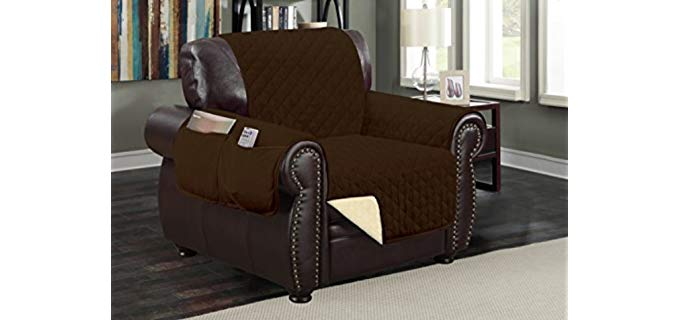 Sofa Guard Deluxe - protective Recliner Cover With Pockets