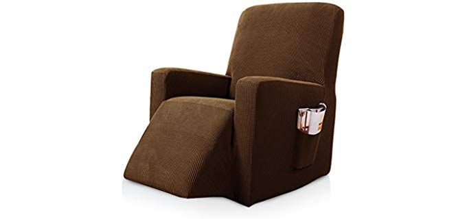 Subrtex Stretch - Fabric Recliner Cover with Side Pocket