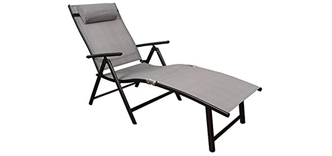 Toucan Outdoor Deluxe - Outdoor Reclining Chaise Lounge Sofa Chair