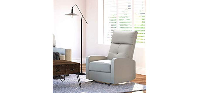 Truly Home Henderson - Light Colored Narrow and Small Recliner