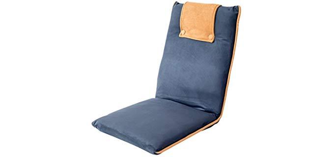 BonVIVO Easy - Padded Reclining Floor Chair