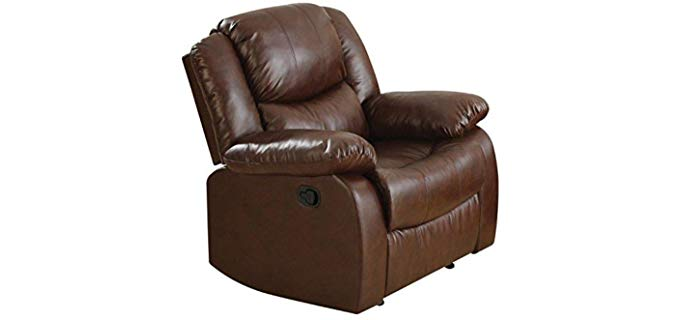 ACME Fullerton - Genuine Bonded Leather Recliner